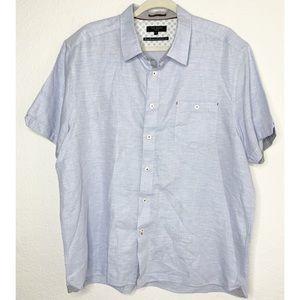 Ted Baker London SZ 7/XXL Blue Cotton Blend Shirt